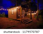 airbnb tiny house cabin... | Shutterstock . vector #1179570787