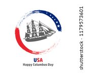happy columbus day. the trend... | Shutterstock .eps vector #1179573601