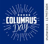 happy columbus day. the trend... | Shutterstock .eps vector #1179573604