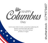 happy columbus day. the trend... | Shutterstock .eps vector #1179573607