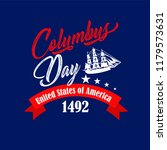 happy columbus day. the trend... | Shutterstock .eps vector #1179573631