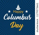 happy columbus day. the trend... | Shutterstock .eps vector #1179573661