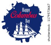 happy columbus day. the trend... | Shutterstock .eps vector #1179573667