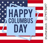 happy columbus day. the trend... | Shutterstock .eps vector #1179573697