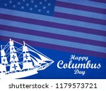 happy columbus day. the trend... | Shutterstock .eps vector #1179573721