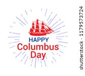 happy columbus day. the trend... | Shutterstock .eps vector #1179573724
