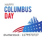 happy columbus day. the trend... | Shutterstock .eps vector #1179573727