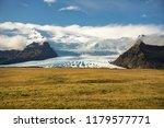 vatnajokull glacier in iceland.  | Shutterstock . vector #1179577771