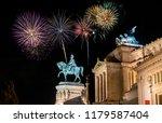 fireworks near victor emmanuel...   Shutterstock . vector #1179587404