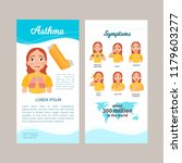 asthma infographics. flyer with ... | Shutterstock .eps vector #1179603277