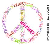 peace related word cloud | Shutterstock . vector #117960385