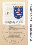 germany circa 1993 a stamp... | Shutterstock . vector #1179628987