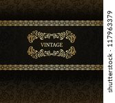 stylish vintage background with ... | Shutterstock .eps vector #117963379