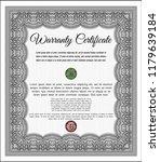 grey retro warranty template.... | Shutterstock .eps vector #1179639184