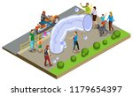 bubble show and entertainment... | Shutterstock .eps vector #1179654397
