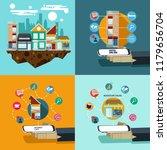business for share location e... | Shutterstock .eps vector #1179656704