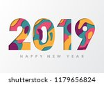 2019 happy new year greeting... | Shutterstock .eps vector #1179656824