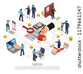 tax inspection flowchart... | Shutterstock .eps vector #1179661147