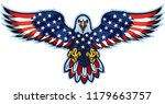 american eagle with usa flags | Shutterstock .eps vector #1179663757