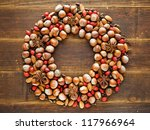 Christmas Wreath Made Of Nuts...