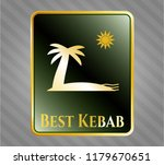 golden emblem or badge with... | Shutterstock .eps vector #1179670651