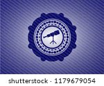 telescope icon inside emblem... | Shutterstock .eps vector #1179679054