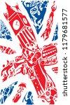 uk abstract flag art  united... | Shutterstock .eps vector #1179681577