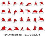 santa hats doodles | Shutterstock .eps vector #117968275