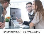 business team discussing... | Shutterstock . vector #1179683347