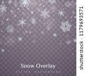 falling christmas snow.... | Shutterstock .eps vector #1179693571