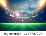 lights at night and stadium 3d... | Shutterstock . vector #1179707704