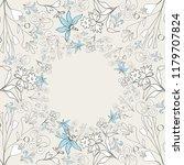 vintage style   floral elements ...   Shutterstock .eps vector #1179707824