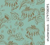 seamless pattern with vintage...   Shutterstock .eps vector #1179708391