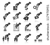Hand Concept Icons. Vector Eps...
