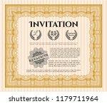 orange vintage invitation....   Shutterstock .eps vector #1179711964