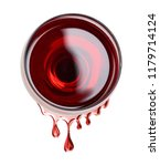 red wine in glass with a wine... | Shutterstock . vector #1179714124