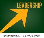 leadership concept   arrow with ... | Shutterstock . vector #1179714904