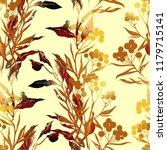 imprints autumn plants  leaves  ... | Shutterstock . vector #1179715141