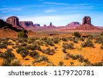 monument valley and the mittens ... | Shutterstock . vector #1179720781