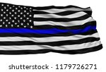 Blue Lives Matter Isolated Fla...
