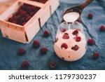 coconut banana vegan ice cream...   Shutterstock . vector #1179730237