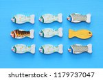 different fish swimming... | Shutterstock . vector #1179737047