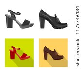isolated object of footwear and ... | Shutterstock .eps vector #1179746134