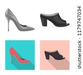 vector illustration of footwear ... | Shutterstock .eps vector #1179747034