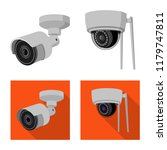vector illustration of cctv and ... | Shutterstock .eps vector #1179747811