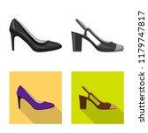 vector design of footwear and... | Shutterstock .eps vector #1179747817