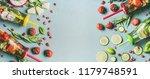 various healthy detox infused... | Shutterstock . vector #1179748591