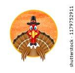 thanksgiving turkey bird... | Shutterstock . vector #1179752911