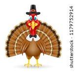 thanksgiving turkey bird... | Shutterstock . vector #1179752914