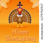 thanksgiving turkey bird... | Shutterstock . vector #1179752917